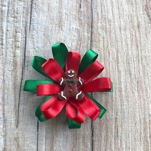 Other - Christmas Flower Loop hair bow